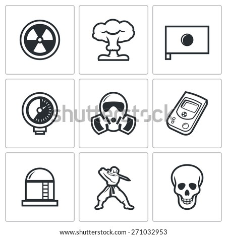 atomic energy of japan icons