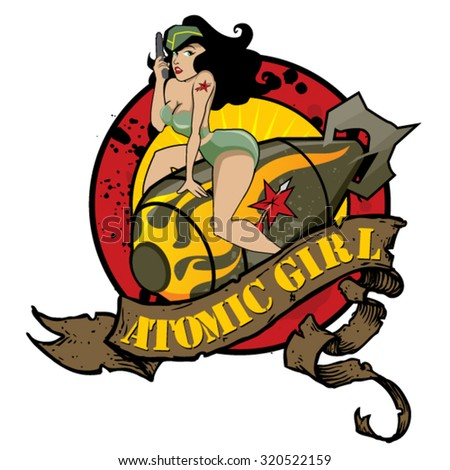 atomic girl a vintage pin up