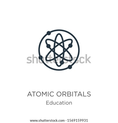 Atomic orbitals icon vector. Trendy flat atomic orbitals icon from education collection isolated on white background. Vector illustration can be used for web and mobile graphic design, logo, eps10