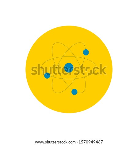 Atomic orbitals vector icon on white background. Flat vector atomic orbitals icon symbol sign from modern education collection for mobile concept and web apps design.
