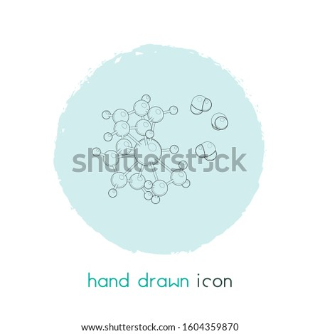 Atomic physics icon line element. Vector illustration of atomic physics icon line isolated on clean background for your web mobile app logo design.