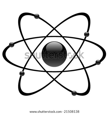 atomic symbol, vector - stock vector