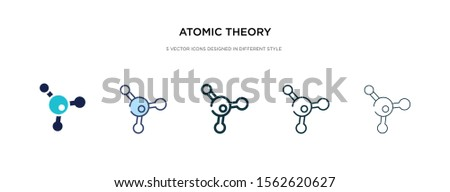 atomic theory icon in different style vector illustration. two colored and black atomic theory vector icons designed in filled, outline, line and stroke style can be used for web, mobile, ui