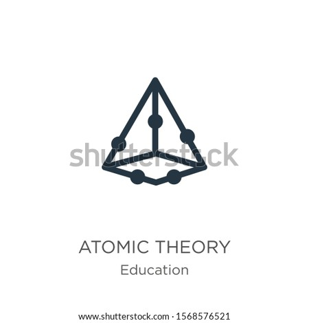 Atomic theory icon vector. Trendy flat atomic theory icon from education collection isolated on white background. Vector illustration can be used for web and mobile graphic design, logo, eps10