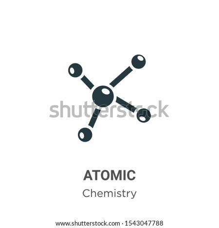 Atomic vector icon on white background. Flat vector atomic icon symbol sign from modern chemistry collection for mobile concept and web apps design.