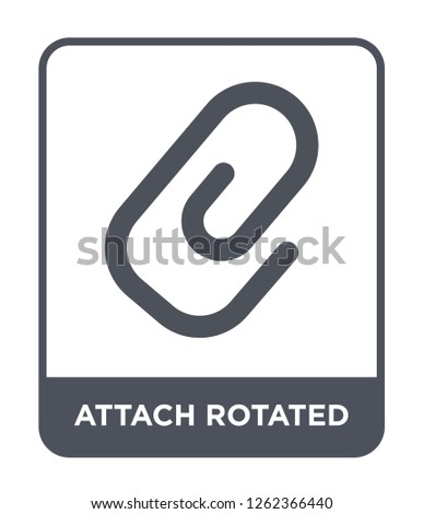 attach rotated icon vector on white background, attach rotated trendy filled icons from Ultimate glyphicons collection, attach rotated simple element illustration