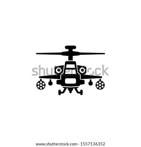 attack helicopter icon vector