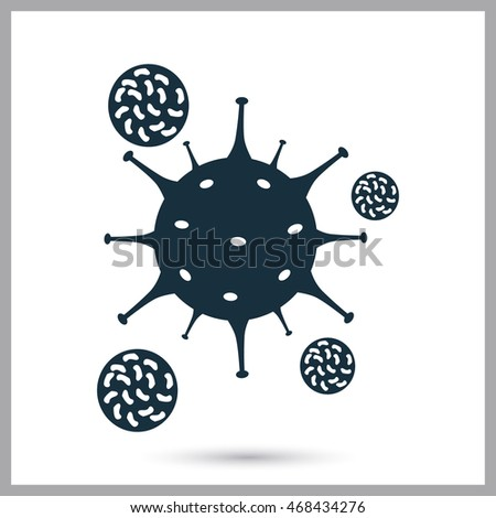 Attack immune cells virus icon on the background