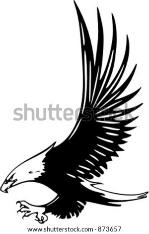 Attacking Eagle - vehicle graphic. Ready for vinyl cutting. Check my portfolio for many more images.