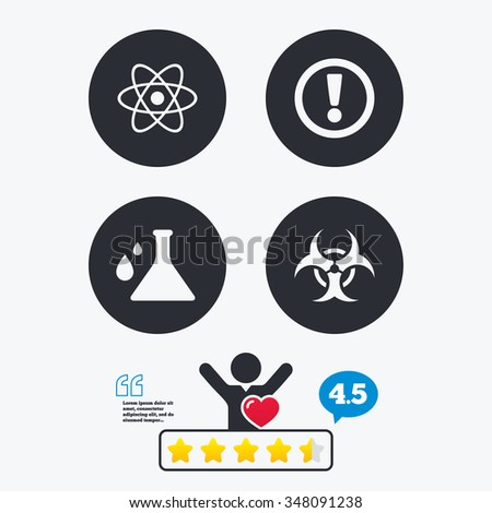 attention and biohazard icons