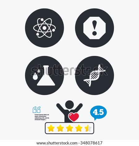 attention and dna icons
