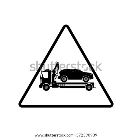 attention car tow service, 24 hours, truck. auto service, car repair
