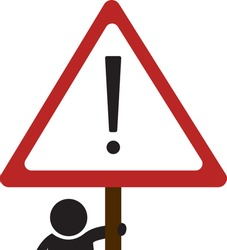 Attention danger sign. Alert warning icon
