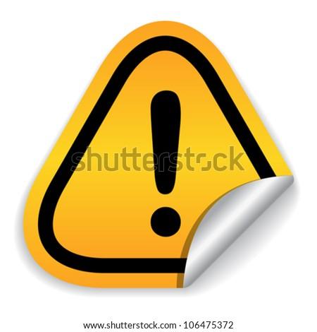 Attention hazard sign, eps10 vector illustration