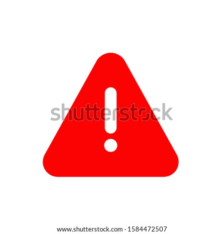 Attention icon, vector illustration. Flat design style. vector attention icon illustration isolated on White background, attention icon Eps10. attention icons graphic design vector symbols.