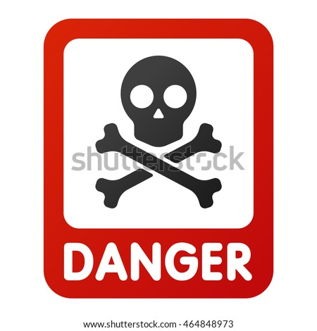 attention icons danger skull...