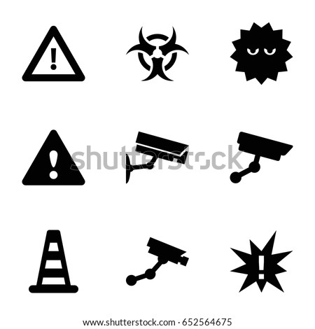 attention icons set set of 9