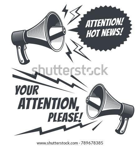 attention please vector symbols