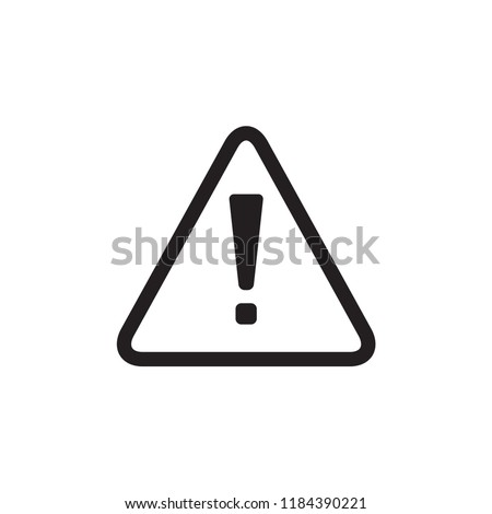 attention sign icon in trendy flat design
