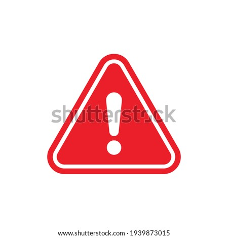 Attention sign icon. Warning icon.