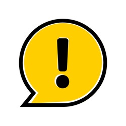 attention sign on white background. Vector icon.