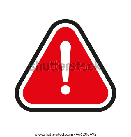 Attention Sign, Red Attention sign, Attention sign Icon, Attention sign on white, Attention sign vector, Attention sign illustration. Attention warning sign