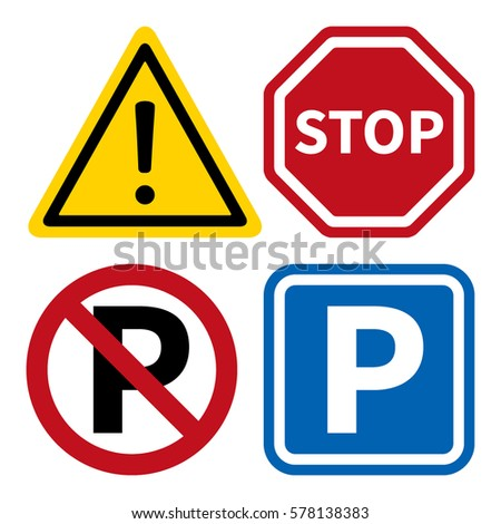 attention  stop  no parking and