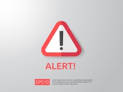 attention warning attacker alert sign with exclamation mark. beware alertness of internet danger symbol. shield line icon for VPN. Security protection Concept. vector illustration.