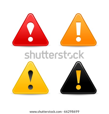 triangle exclamation point warning autos post