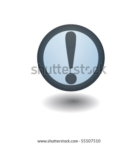 attention warning sign exclamation mark on white background - stock vector
