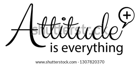 Positive Attitude Quotes Newest Royalty Free Vectors Imagericcom