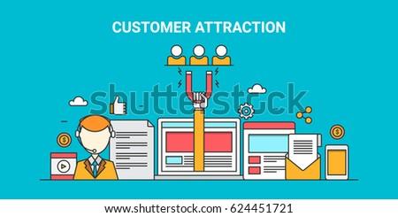 attracting customers  website