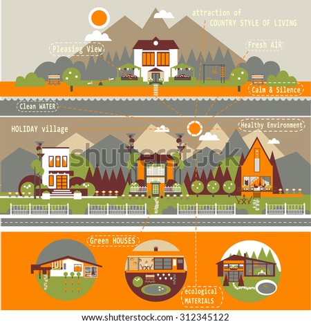 attraction of country style of