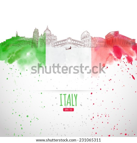 attraction of italy painted in