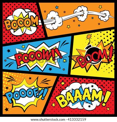 attractive comic sound effect