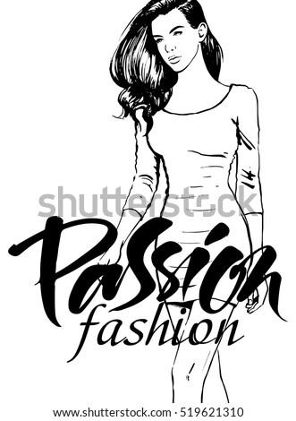 attractive fashion woman