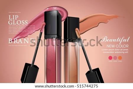 attractive lip gloss ads