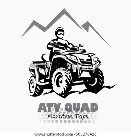 atv  quad bike stylized