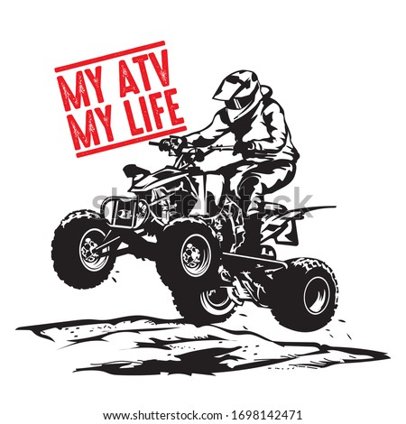 ATV Racing extreme sport, good for tshirt design and racing event logo  Stock photo ©
