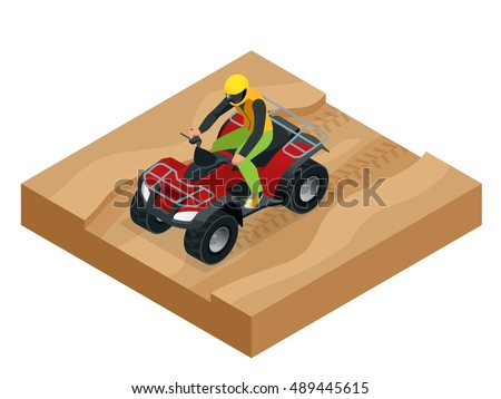 atv rider in the action quad