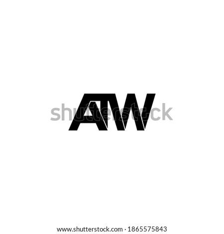 atw letter original monogram logo design Zdjęcia stock ©