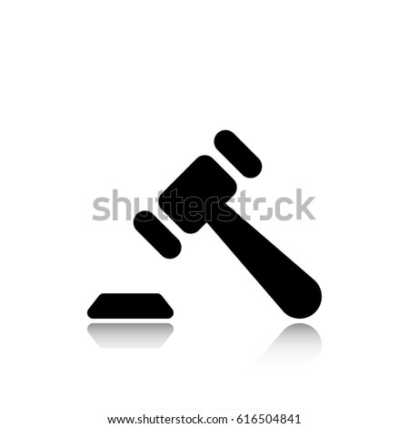 Auction icon stock vector illustration flat design