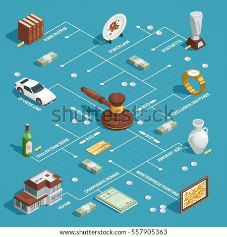 auction room isometric