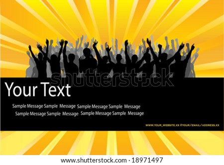 Audience Cheering Success Vector Background