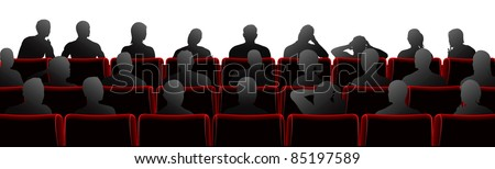 Audience sat in theatre or cinema style chairs Stock photo ©