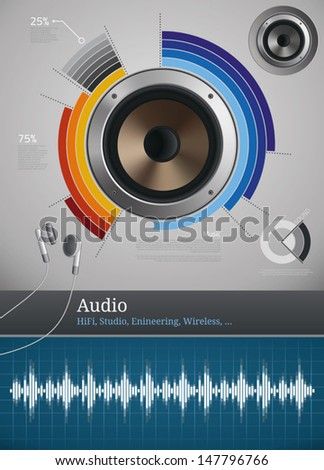 audio and sound icons and
