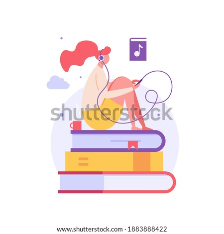 audio book woman listening