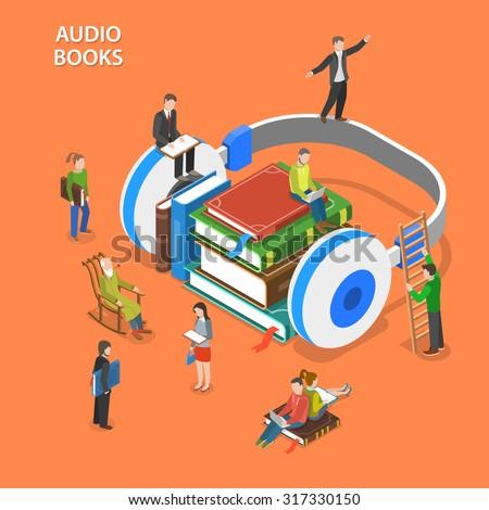 audio books listening isometric