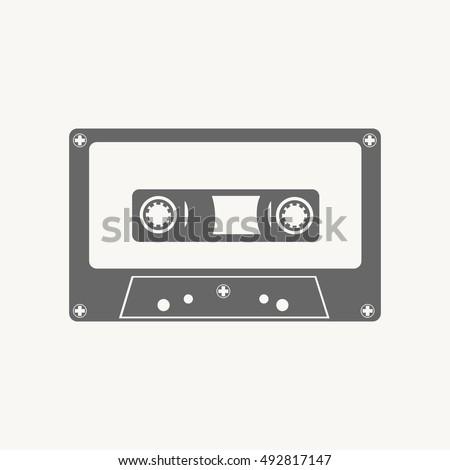 audio cassette  tape grey color