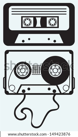 audio cassette tape isolated on